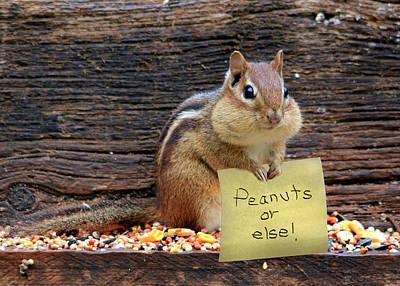 Peanuts Or Else Print by Lori Deiter