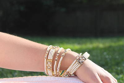 Pearl Of India Bangles Print by Courtney Hancock