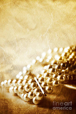 Bracelet Photograph - Pearls by HD Connelly