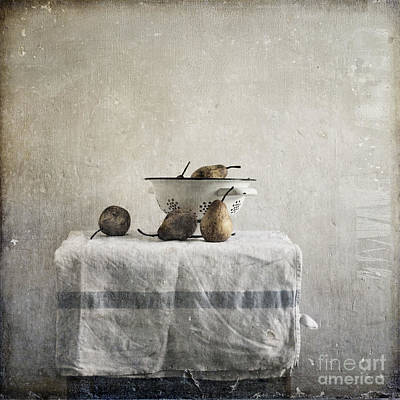 Flypaper Textures Photograph - Pears Under Grunge by Paul Grand