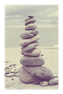 Rock Photograph - Pebble Tower by Mal Bray