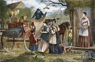 Peddlers Wagon, 1868 Print by Granger