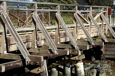 Pedestrian Bridge At Point Isabel In Richmond California . 7d15082 Print by Wingsdomain Art and Photography