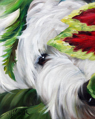 Westie Painting - Peek A Boo by Mary Sparrow