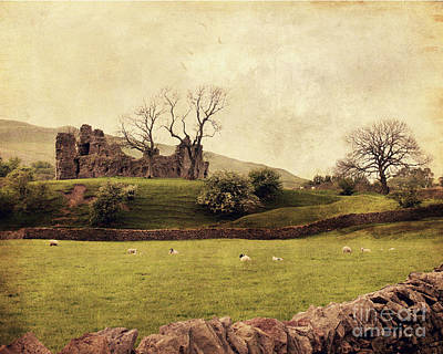 Castle Digital Art - Pendragon Castle by Linde Townsend