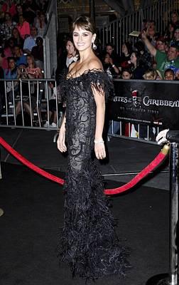 Penelope Cruz Wearing A Marchesa Dress Print by Everett