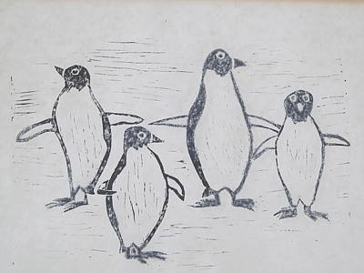 Penguins Print by Tina M Wenger