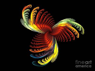 Abstract Design Digital Art - Pens Of Angels by Klara Acel
