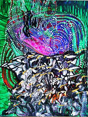 Holy Ghost Painting - Pentecost by Gloria Ssali