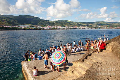 People Waiting At The Islet Print by Gaspar Avila