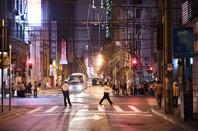 Web Of Life Photograph - People Walking Through The Streets by Justin Guariglia