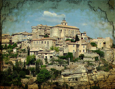 Perched Village Of Gordes Print by Carla Parris
