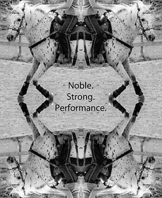 Horse Show Digital Art - Performance by Betsy Knapp