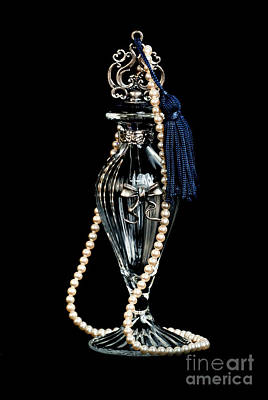 Jewelry Photograph - Perfume And Pearls by HD Connelly