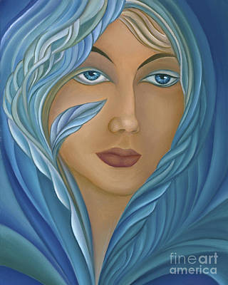 Curvilinear Painting - Persephone by Joanna Pregon