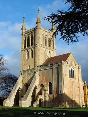 Midland Cemetery Photograph - Pershore Abbey by Alan Davis