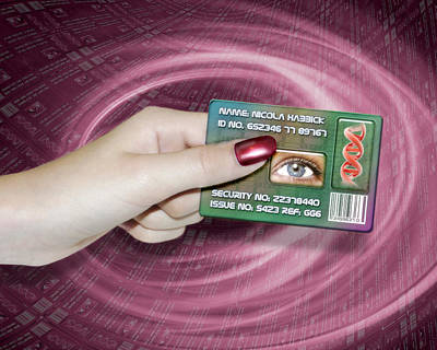 Civil Liberties Photograph - Personal Id Card by Victor Habbick Visions