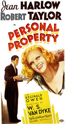 Postv Photograph - Personal Property, Jean Harlow, Robert by Everett