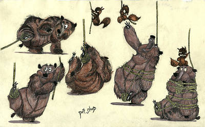 Squirrel Mixed Media - Pet Shop - Bears by Mike Michell