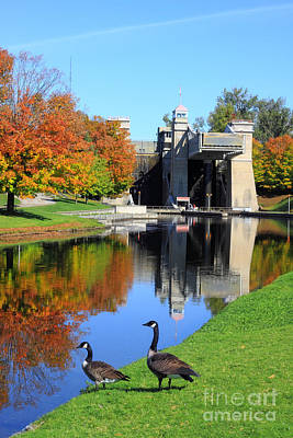 Historic Site Photograph - Peterborugh Lift Lock by Charline Xia