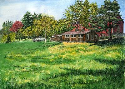 Shed Painting - Peterson's Sugar House by Elaine Farmer