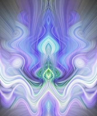 Reaching Up Digital Art - Petition In Blue by Linda Phelps