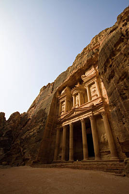 Petra Treasury At Morning Print by Universal Stopping Point Photography