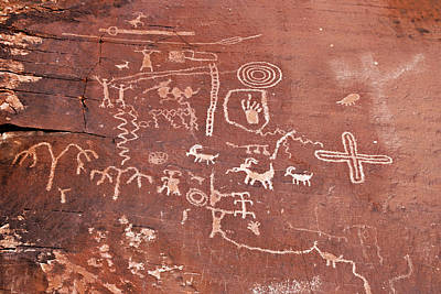Archaeology Photograph - Petroglyph Canyon - Valley Of Fire by Christine Till