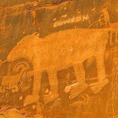 Desert Photograph - #petroglyph #southwest #sandstone #moab by Gary Whitton