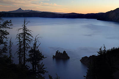 Deep Blue Photograph - Phantom Ship Sunrise At Crater Lake by Pierre Leclerc Photography