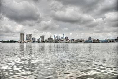 Philadelphia Across The Water Print by Jennifer Ancker
