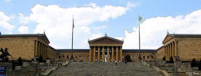 Philadelphia Museum Of The Arts Print by Rick Thiemke