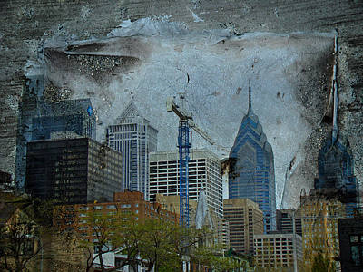 Philadelphia Skyline Print by Mother Nature