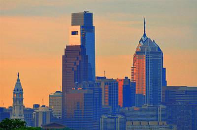 Cityhall Digital Art - Philadelphia Sunrise by Bill Cannon