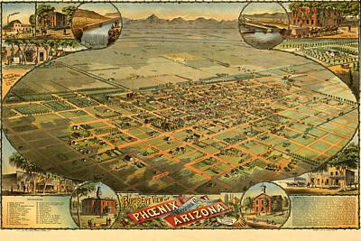 Phoenix Arizona 1885 Print by Donna Leach