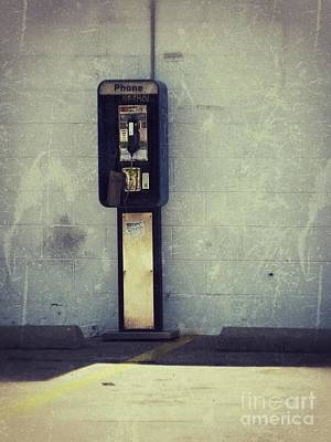 Phone Booth Print by Angela Wright