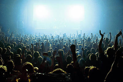 Rock Music Art Photograph - Photo Of Audience by Fin Costello