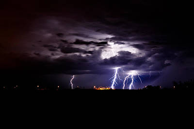 Phx Night Lightning 6 Print by Kenny Jalet