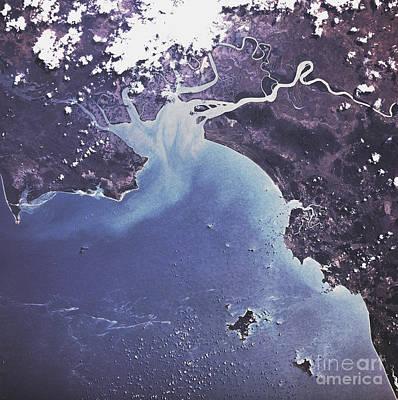 Phytoplankton Or Algal Bloom Print by Nasa