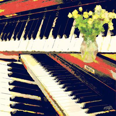 Flowers Digital Art - Piano Keys by Arline Wagner
