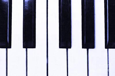 Piano Keys Print by Wingsdomain Art and Photography