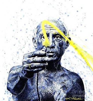 Picasso Print by Chris Mackie