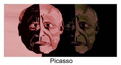 Picasso  Now And Then Print by Mark Moore