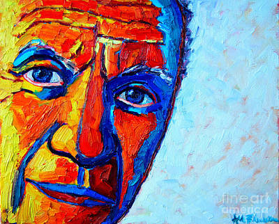 Vivid Colour Painting - Picasso's Look by Ana Maria Edulescu