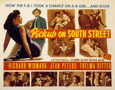 Pickup On South Street, Jean Peters Print by Everett