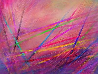 Sadness Painting - Pickupsticks by Rachel Christine Nowicki