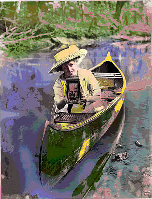 Canoe Mixed Media - Picture Perfect by Charles Shoup