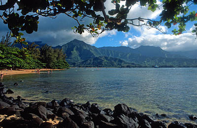 Picture Perfect Hanalei Bay Print by Kathy Yates