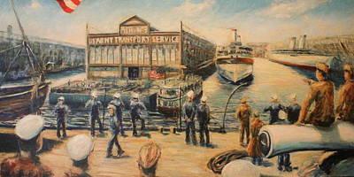 Pier 3  The Us Army Transport Service Print by Daniel W Green
