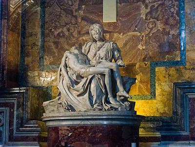 Pieta By Michelangelo Circa 1499 Ad Print by Jon Berghoff